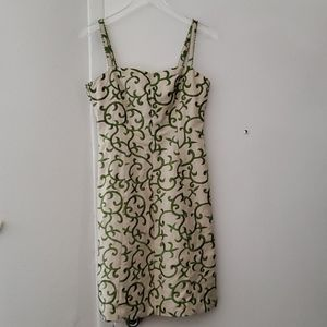 Tommy Hilfiger Sleeveless, Green Embroidered dress